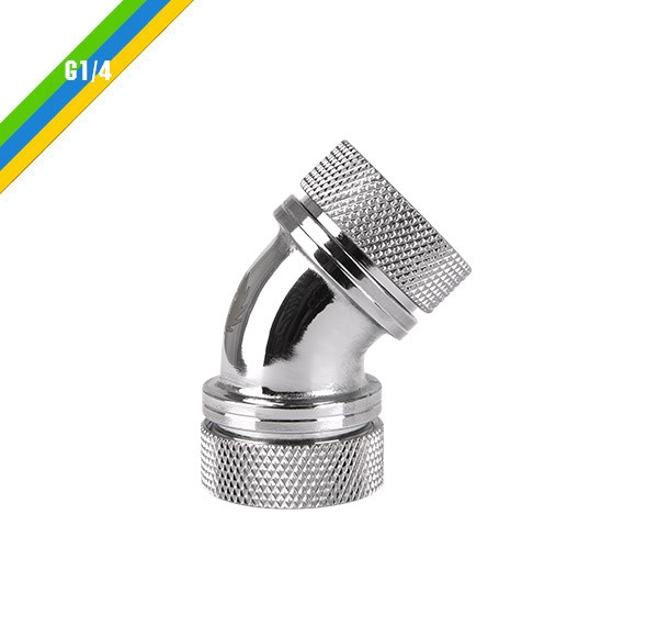 Pacific PETG Tube 45-Degree Dual Compression 16mm OD - Chrome