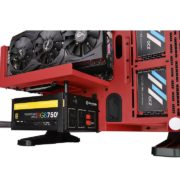 Core P3 Tempered Glass Red Edition ATX Open Frame Chassis
