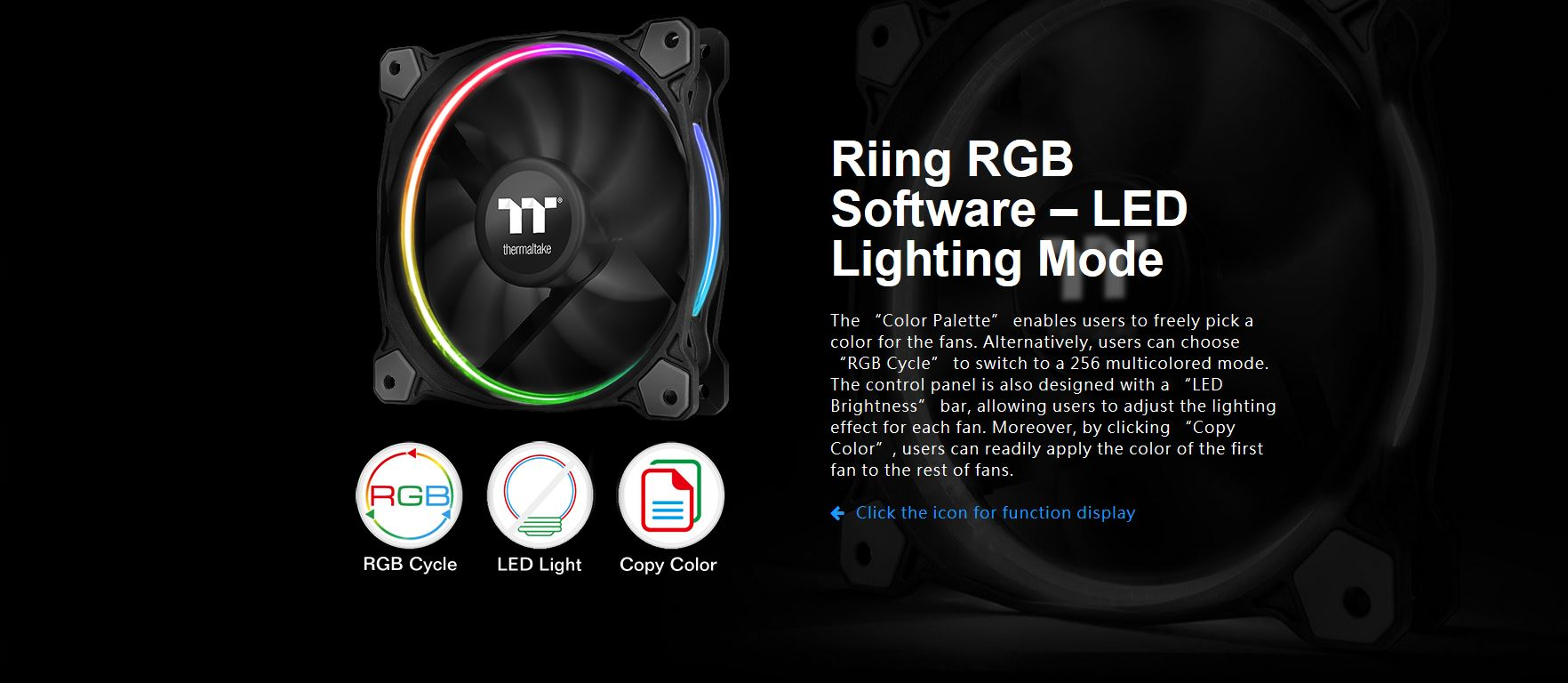 Riing 12 Led Rgb Tt Premium Edition 3 Fan Pack Ttpremium Create Secondary Colors From Multicolored Leds Edn Ttp Lighting