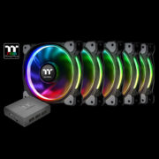 Riing Plus 14 LED RGB Radiator Fan TT Premium Edition (5 Fan Pack)