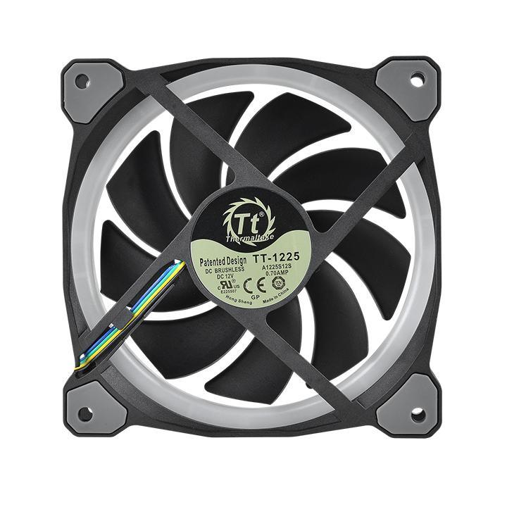 riing plus 12 led rgb radiator fan tt premium edition single fan