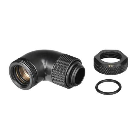 Pacific G1/4 PETG Tube 90-Degree compression 12mm OD – Black